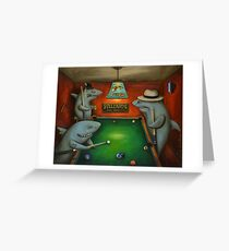 Pool Sharks Greeting Card