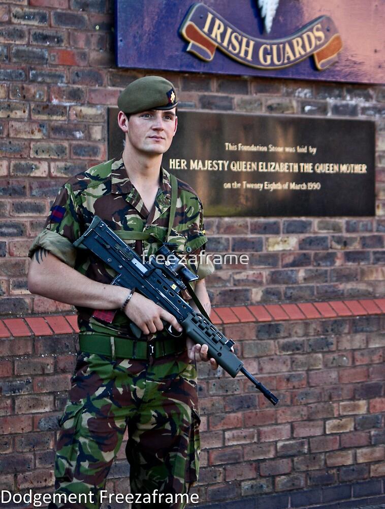 Guard At Windsor barracks UK by freezaframe