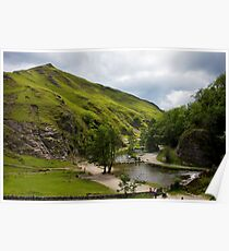 Dovedale Stepping Stones and Thorpe Cloud. Poster