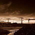 Titanic Quarter cranes, Belfast by Chris Millar