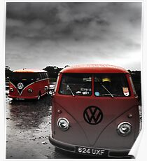 VW Show N Shine Split Screens Poster