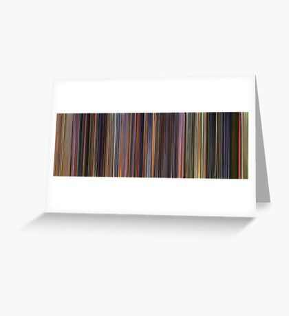 Moviebarcode: Toy Story Trilogy (1995-2010) Greeting Card