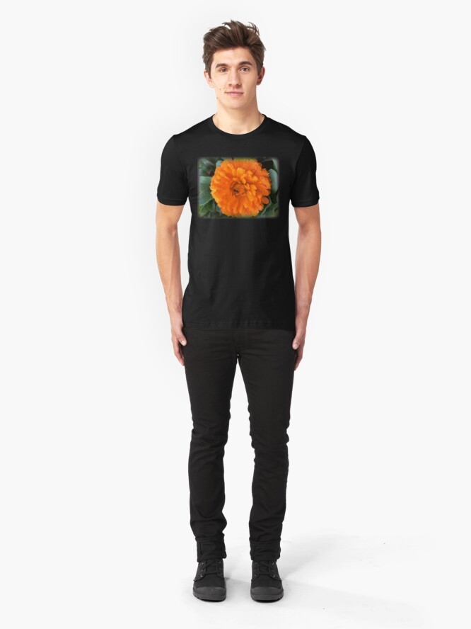 Alternate view of Marigold with Raindrops Slim Fit T-Shirt