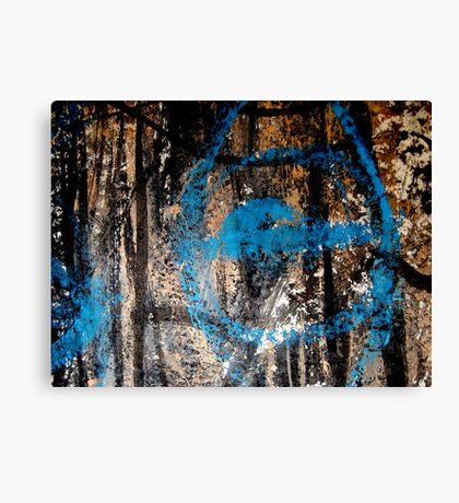 forest eye.... wide open blind  Canvas Print
