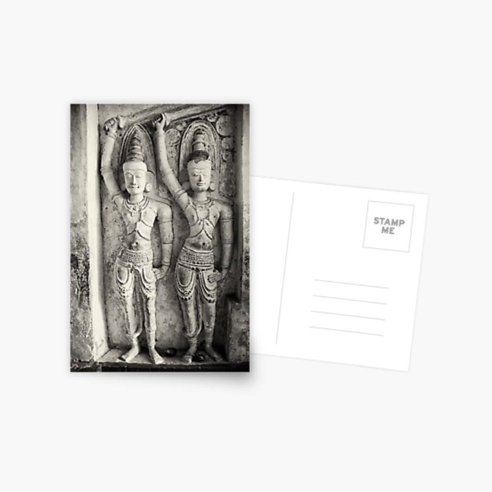 Rock Temple Art - Lankatilaka Temple Postcard
