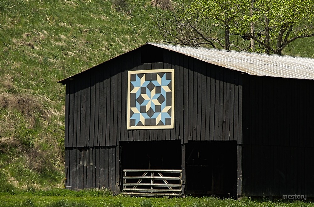 Quot Kentucky Barn Quilt Snow Crystals Quot By Mary Carol Story