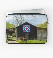 Kentucky Barn Quilt - Carpenters Wheel Laptop Sleeve