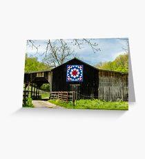 Kentucky Barn Quilt - Carpenters Wheel Greeting Card