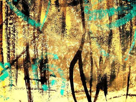 tree spirits..... forest snow by banrai