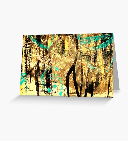 tree spirits..... forest snow Greeting Card
