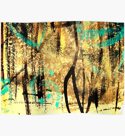 tree spirits..... forest snow Poster