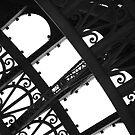 Eiffel Tower - Close Up  - B + W by minikin