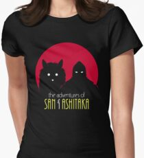 The Adventures of San & Ashitaka Women's Fitted T-Shirt