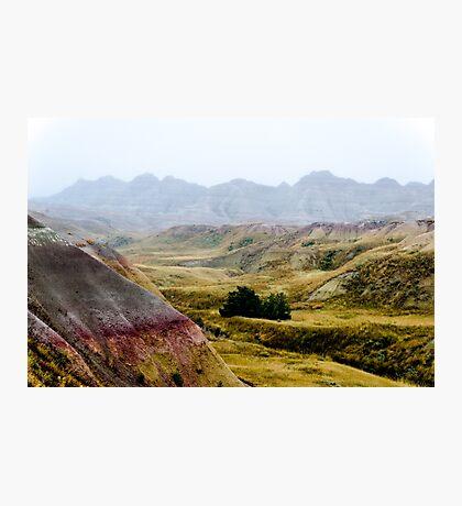 Badlands Fog Photographic Print