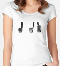 Manual Transmission Pedals Women's Fitted Scoop T-Shirt