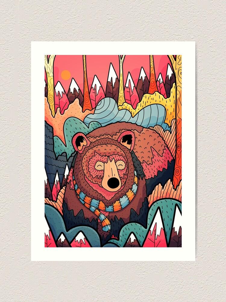 Alternate view of Winter bear forest Art Print