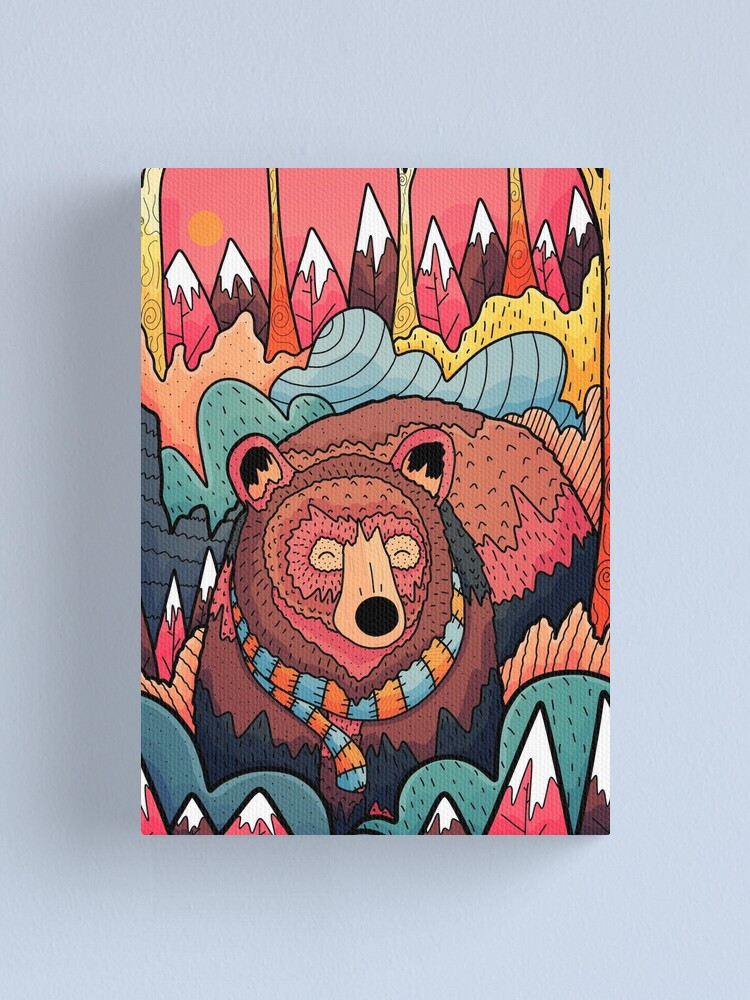 Alternate view of Winter bear forest Canvas Print