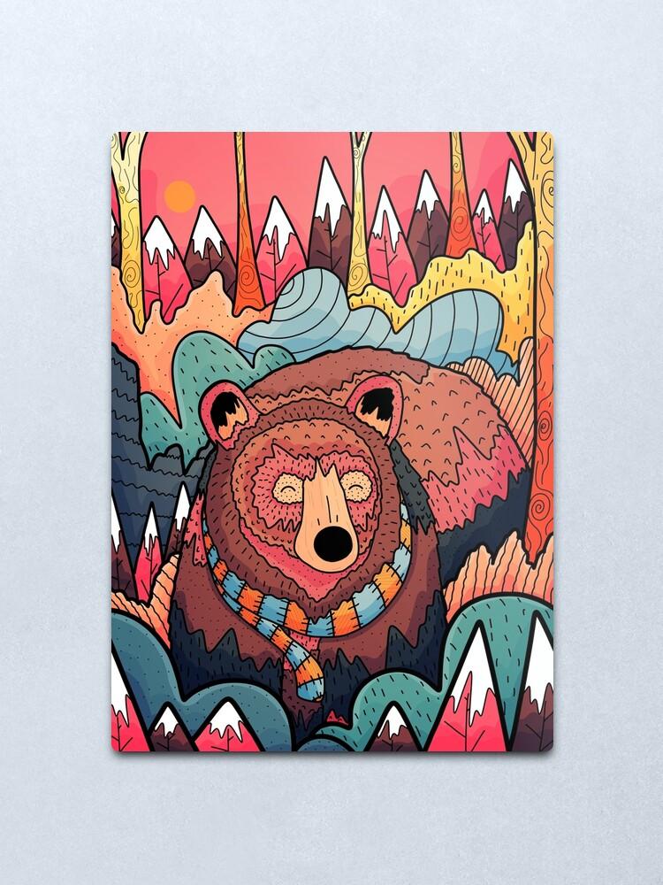 Alternate view of Winter bear forest Metal Print