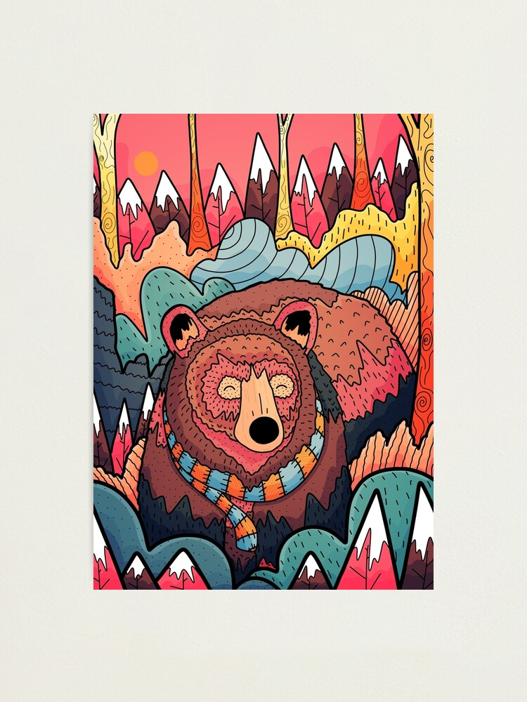 Alternate view of Winter bear forest Photographic Print