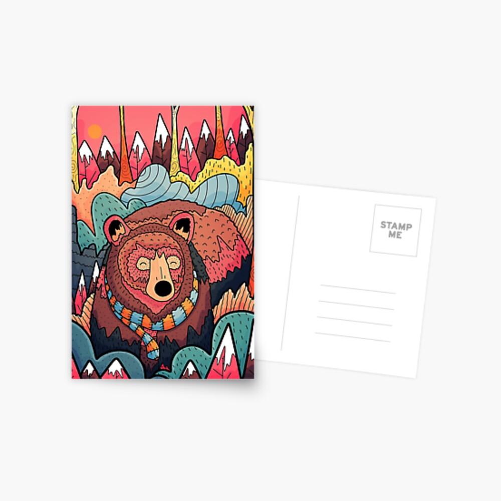 Winter bear forest Postcard