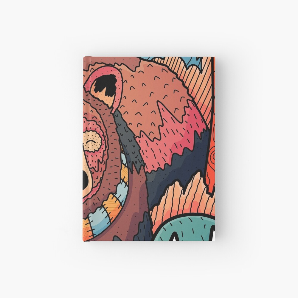 Winter bear forest Hardcover Journal