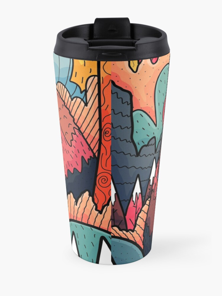 Alternate view of Winter bear forest Travel Mug