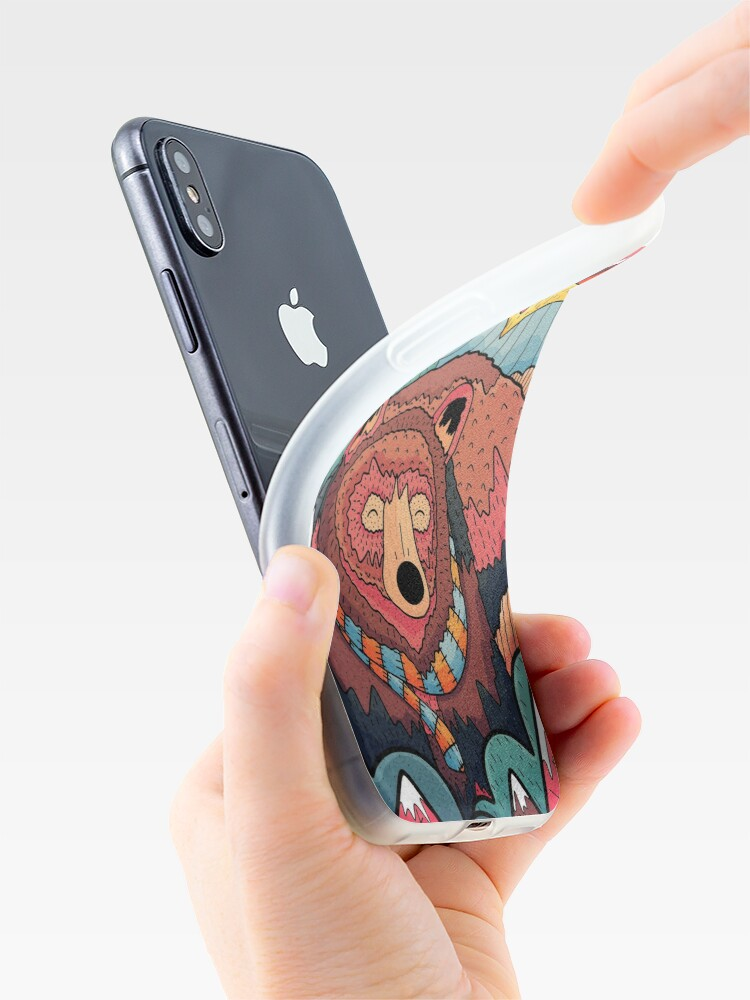 Alternate view of Winter bear forest iPhone Case & Cover