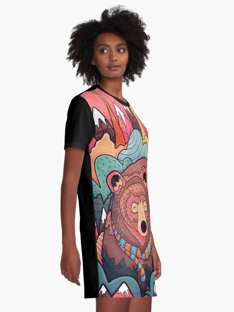 Alternate view of Winter bear forest Graphic T-Shirt Dress