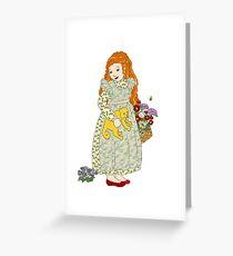 Flower Basket Greeting Card