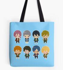 Free! Polkadot Group Chibi Tote Bag