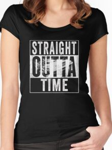 Straight Outta Time Back to the Future  Women's Fitted Scoop T-Shirt
