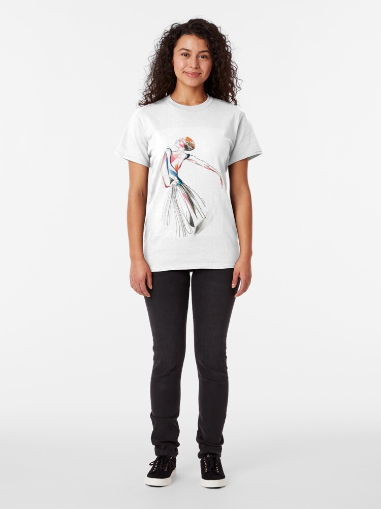 Alternate view of Original Ballet Dance Drawing – Watercolor and Ink on Paper  Classic T-Shirt