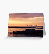 Dawn, late June, Lake Erie, West of Cleveland Greeting Card
