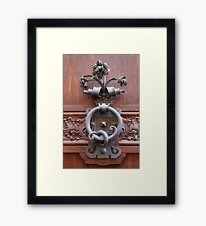 Ornate Handle Framed Print