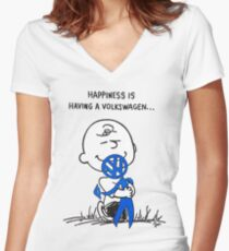 Happiness is ... Women's Fitted V-Neck T-Shirt