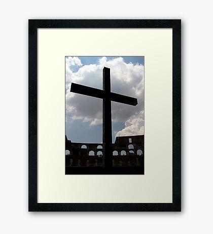 Colosseum Cross Framed Print