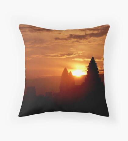 Sunrise over Angkor Wat, Cambodia. Throw Pillow