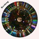 Keelung Circular Cityscape - Night Circular Skyline of Keelung Harbor by Warren Paul Harris