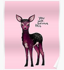 Galaxy Sparkle Fawn Poster