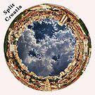 Split, Croatia Circular Cityscape - Circular Skyline of Split, Croatia by Warren Paul Harris