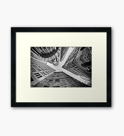 Dizzying Up - Sydney - Australia Framed Print