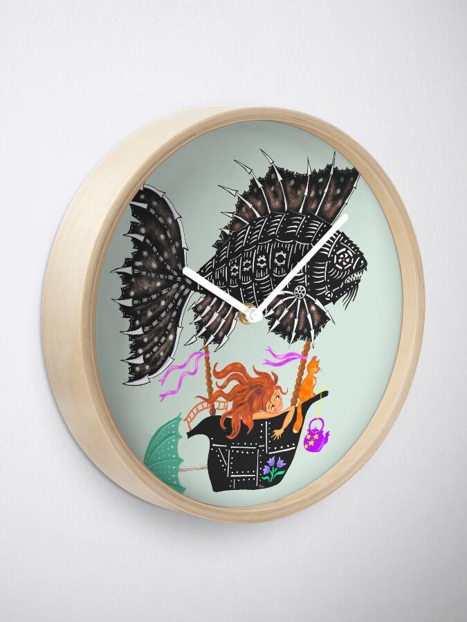 Alternate view of Steampunk mechanical fish Clock