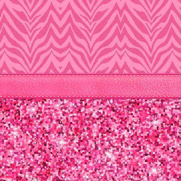 Glitzy Pink Zebra Pattern by runninragged