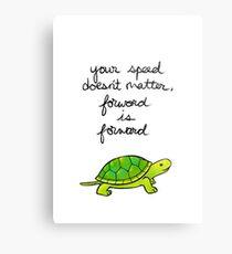 Lámina metálica Adelante es Forward Turtle