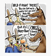 Happy Hour Horse - A Western Hero Photographic Print