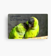 CONGRATULATIONS! - Top 10 Challenge Winner - Sharing & Caring Canvas Print