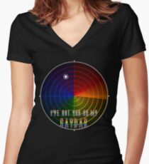 I've Got You On My Gaydar Fitted V-Neck T-Shirt