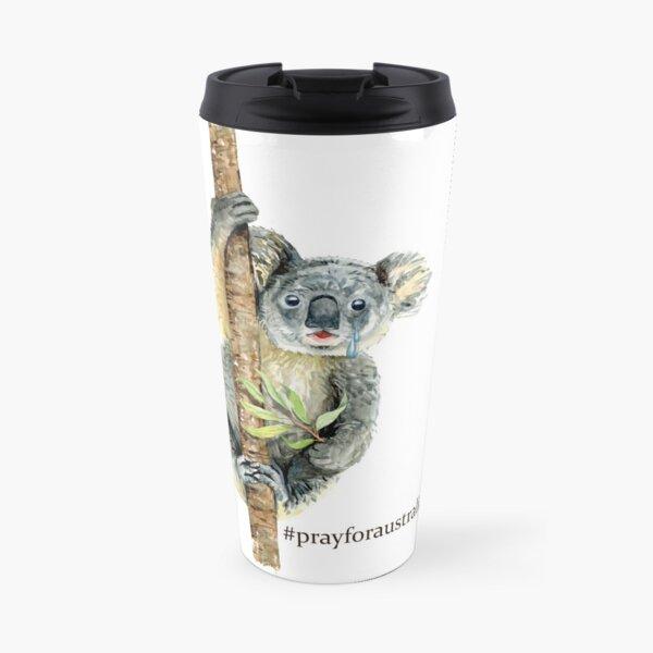 Pray for Australia Koala  Travel Mug