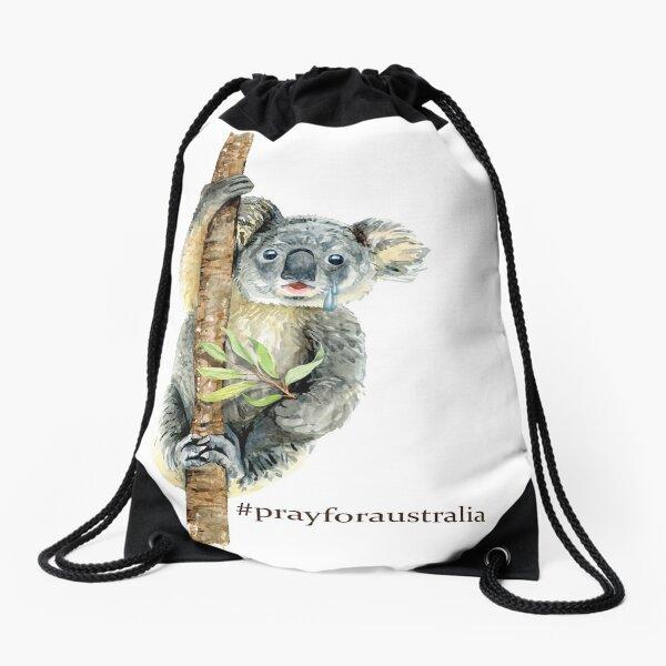 Pray for Australia Koala  Drawstring Bag