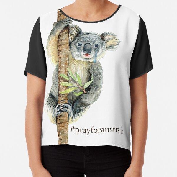 Pray for Australia Koala  Chiffon Top